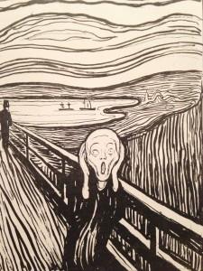 """En udgave af """"Skriget"""" af Edvard Munch"""